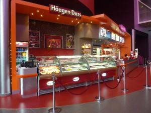 Comptoir confiserie Häagen Dazs